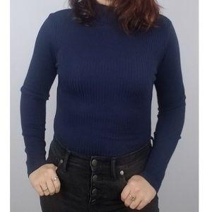 🌹VINTAGE || Ribbed Mockneck Bodysuit